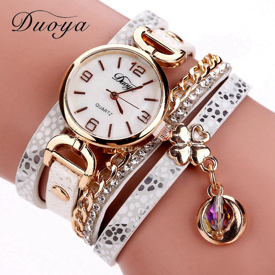 Duoya Brand New Arrival Women Gold Leather Wrist Watches For Women Dress Bracelet Luxury Crystal Vintage Quartz Watch Clock 2018 duoya brand new arrival women gold leather wrist watches for women dress bracelet luxury crystal vintage quartz watch clock 2018