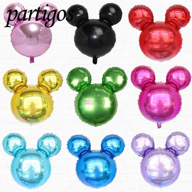 50pcs 2545cm Cute Mini Mickey Mouse Head Balloons Cartoon Shape Inflatable Helium Golobs