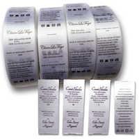 Livraison gratuite étiquette de soin de soie personnalisée/étiquette de lavage/étiquette tissée de vêtement/impression d'étiquettes/vêtements étiquettes lavables 1000 pièces beaucoup