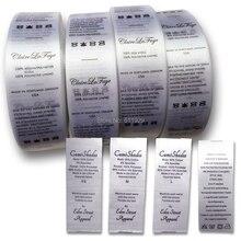Индивидуальные этикетки для ухода за шелком/этикетки для стирки/тканые этикетки для одежды/этикетки для печати/стирающиеся этикетки для одежды, 1000 шт./партия