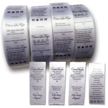 Free shipping customized silk care label/washing label/garment label/tag/clothing washable label