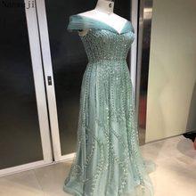 Gorgeous Rhinestones Sequins Mermaid Evening Dress Cap Sleeves Off Shoulder  Elegant Women Formal Dress Party b43dedbc6c55