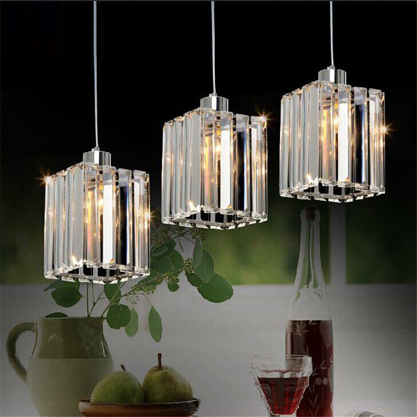 Nordic Pendant Ceiling Light Fixture Electroplated Crystal Hanging Lamp Creative Industrial Lustre Lamps For Kitchen