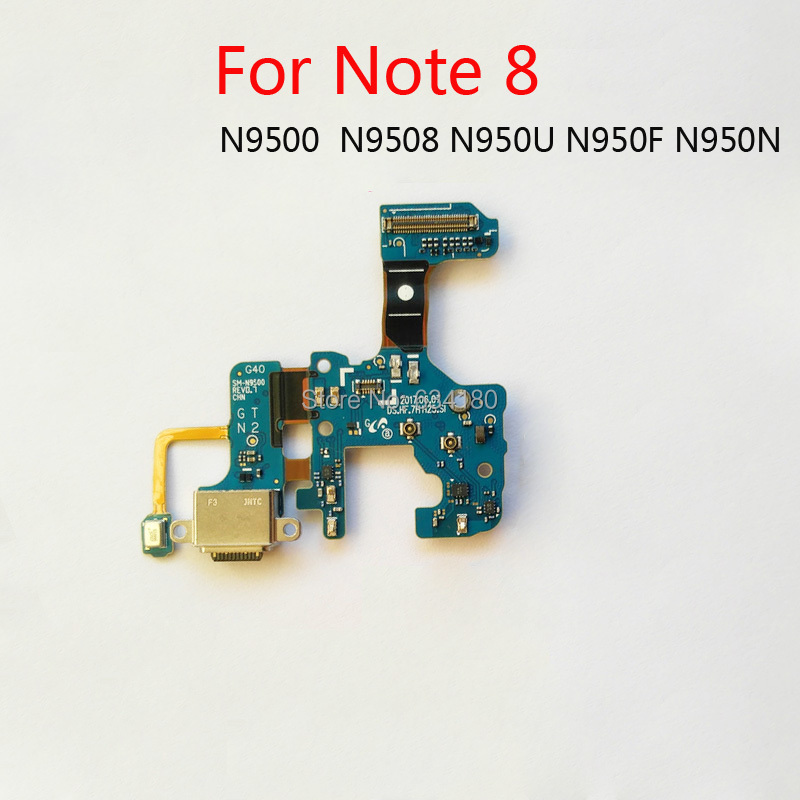 USB Charger Port Connector Dock Charging Flex Cable For <font><b>Samsung</b></font> <font><b>Galaxy</b></font> <font><b>Note</b></font> <font><b>8</b></font> N9500 N9508 N950U N950F <font><b>N950N</b></font> Replacement image