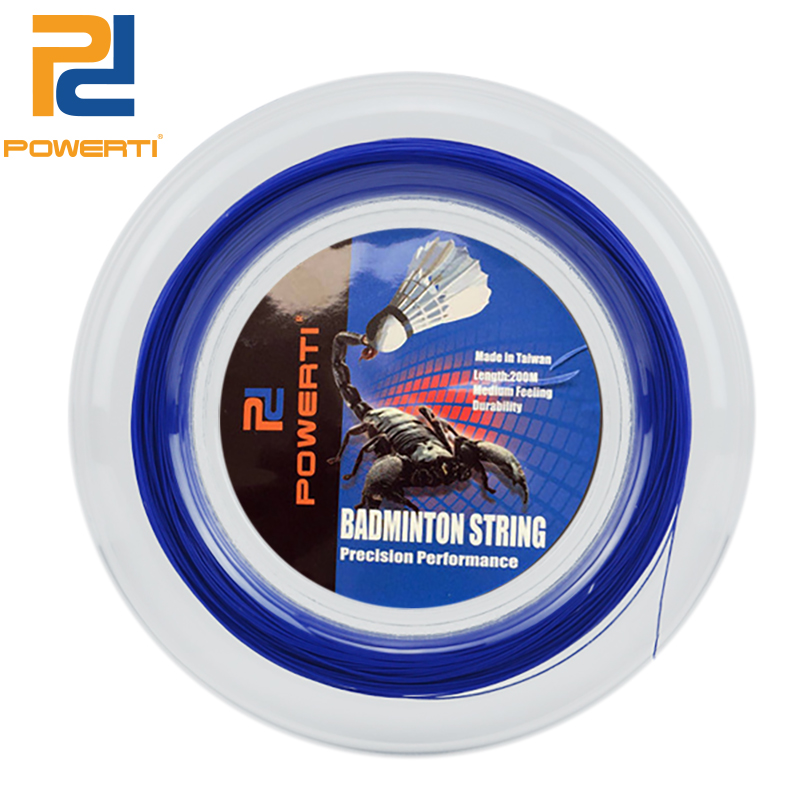 POWERTI 0.69mm Badminton Racket String Nanofibers Reel Badminton Training Racquet String BX95 200m Soft Gym String