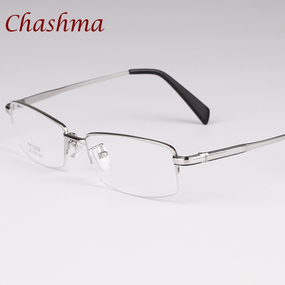 0a3c0c07b3f6 Chashma Brand Gold Color Glasses NEW Male Top Quality Eye Glasses Pure  Titanium Spectacle Frames For Men