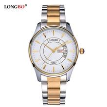 2017 Stainless Steel Quartz Watch Men Calendar Date Top Brand Luxury Wrist Watch for Man Fashion Male Clock Relogio Masculino