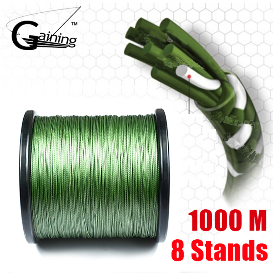 8 Strands Braided Fishing Line 1000m Super Strong Japanese Braided Line Multifilament Polyethylene PE Braid Line