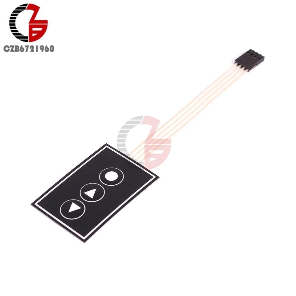 5 Pcs Membrane Switch 1 Key Matrix Keypad Keyboard Control 1x4 Wiring Diagram 1x3 Array 3key 13 Keys