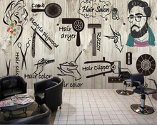beibehang  papel de parede Personality Fashion Salon Hair Beauty Nail Shop wallpaper behang pintado tapety