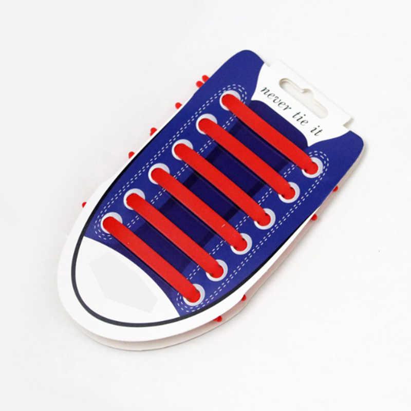12 adet/takım Unisex Yetişkin Atletik Koşu Hiçbir Kravat Ayakabı elastik silikon ayakkabı Dantel Tüm Sneakers Fit Kayış 13 Renkler