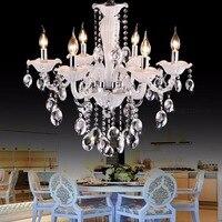 Cafe weiß mini kronleuchter Luxus schlafzimmer 6 lichter kinder leuchte kristall kronleuchter kinderzimmer licht chrom kerzen