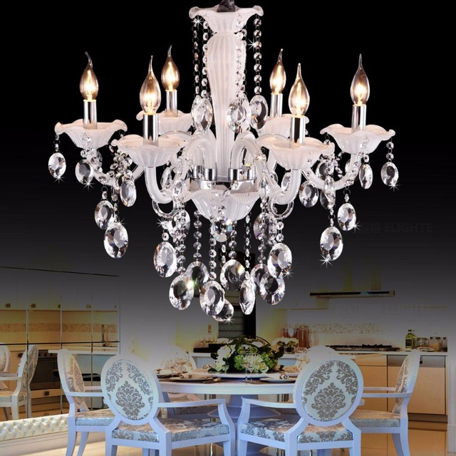 Cafe white mini chandelier luxury bedroom 6 lights kids lighting cafe white mini chandelier luxury bedroom 6 lights kids lighting fixture crystal chandeliers children room light aloadofball Image collections