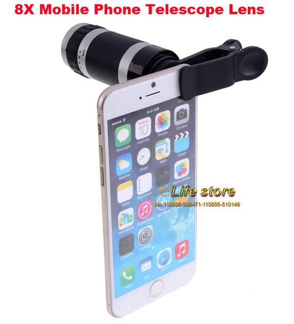 8x zoom óptico del teléfono móvil lente del telescopio clip universal para motorola moto g4, g4 moto más, moto g4 juego