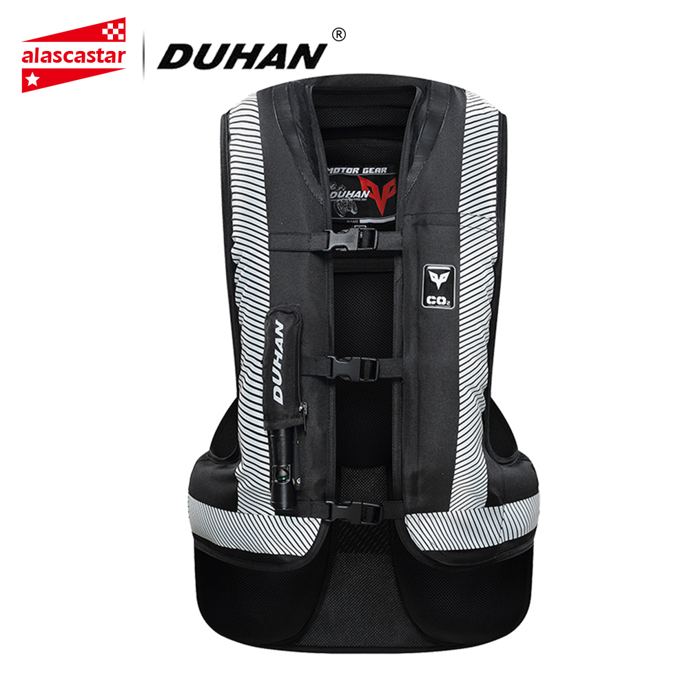 DUHAN Motorcycle Jacket Air bag Vest Motorcycle Jacket Vest Air Bag System Protective Gear Reflective Motorbike