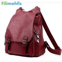 Women Backpacks Leather Female Travel Shoulder Bag Backpack High Quality Women Bag College Wind School Bag Backpack Girl S1493
