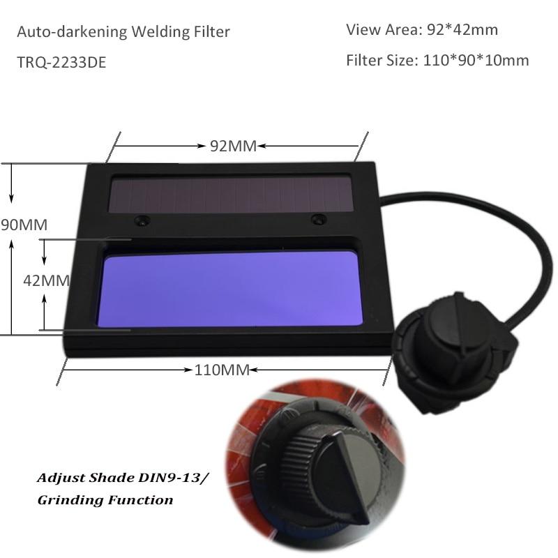 TRQ-HD05-2233DE Auto Escurecer Solares Bateria De Lítio
