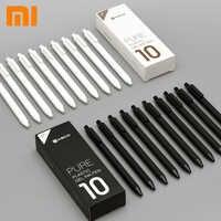 10 unid/set Original Xiaomi mi jia Kaco pluma 0,5mm mi Kaco bolígrafo Core Durable firma Pen recarga tinta negra + Kaco recambios