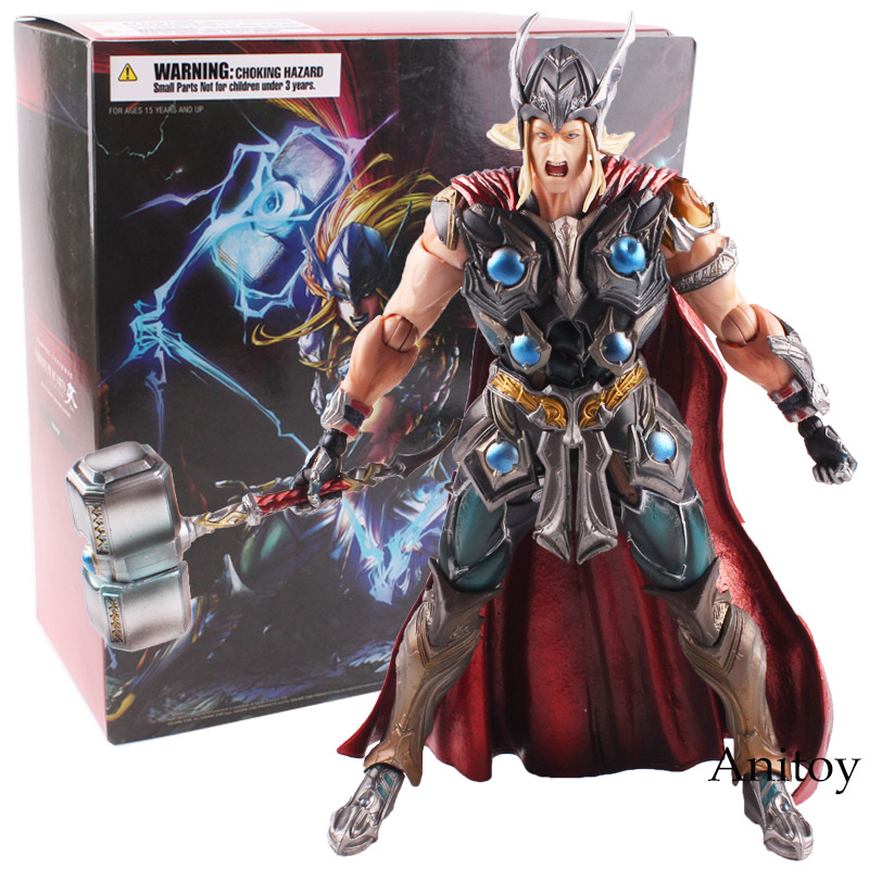 Variant Play Arts KAI Marvel Action Figure Universe Thor Hero PVC Action Figure Collectible Model Toy 26cm