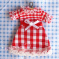 Dollhouse Miniature 1:12 Toy Bedroom Clothes A Red Dress F9