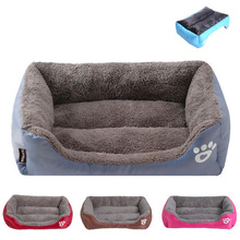 S-3XL Dog Beds for Large Dogs Washable Corduroy Soft Square Kennel Cushion Sofa Sleeping Nest Small Medium Animal Supplies