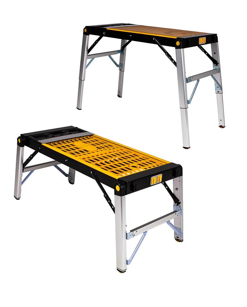 4 en 1 petite table pliante multifonctionnelle d'alliage d'aluminium appropriée au travail du bois, à l'électricien, au transport extérieur, etc.