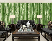 beibehang Mao bamboo wall paper entrance store Chinese style living room restaurant hotel corridor background wallpaper
