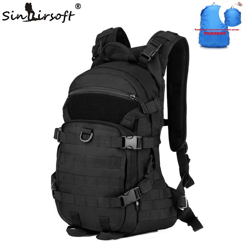 SINAIRSOFT Outdoor Military Tactical Backpack Trekking Sport Travel 25L Nylon Camping Hiking Trekking Camouflage Bag LY0062 55l unisex outdoor military army tactical backpack trekking sport travel rucksacks camping hiking trekking camouflage bag