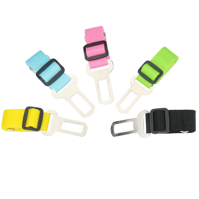 Vehicle Car Pet Dog Seat Belt Puppy Car Seatbelt Harness Lead Clip Pet Dog Supplies Safety Lever Auto Traction Products 3S1 2