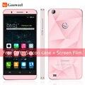 Caso libre Gooweel MT6580 M5 Pro teléfono móvil de cuatro núcleos 5 pulgadas IPS smartphone 1 GB RAM 8 GB ROM cámara de 5MP + 8MP GPS 3G del teléfono celular