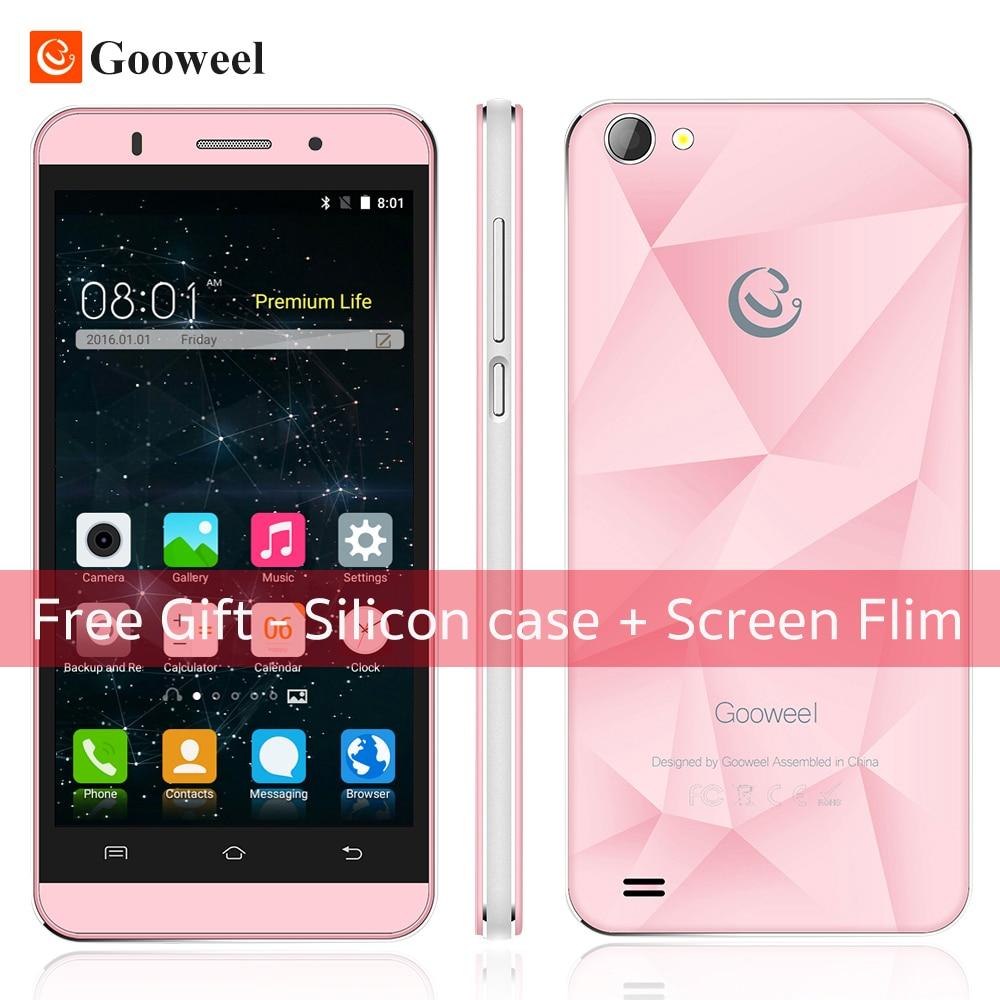 Free Case Gooweel M5 Pro mobile phone MT6580 quad core 5 inch IPS smartphone 1GB RAM