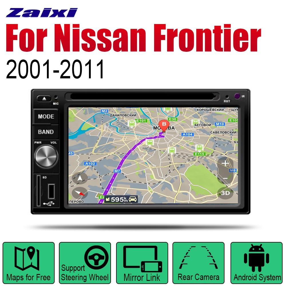 Pour Nissan Frontier 2001 ~ 2011 autoradio lecteur DVD GPS Navigation Android HD Displayer système Audio vidéo stéréo dans la tête de tableau de bord