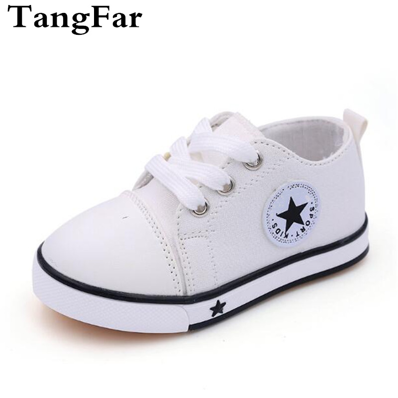 Children Canvas Shoes  Spring White Baby Sneakers Non-slip Toddler Sports Shoe Size 21-25 Boys Girls Espadrilles