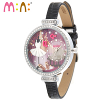 M: N: Handgemaakte POLYMER CLAY Korea Mini horloge dames vrouwen horloges meisjes klok kids Cartoon horloge relogio feminino