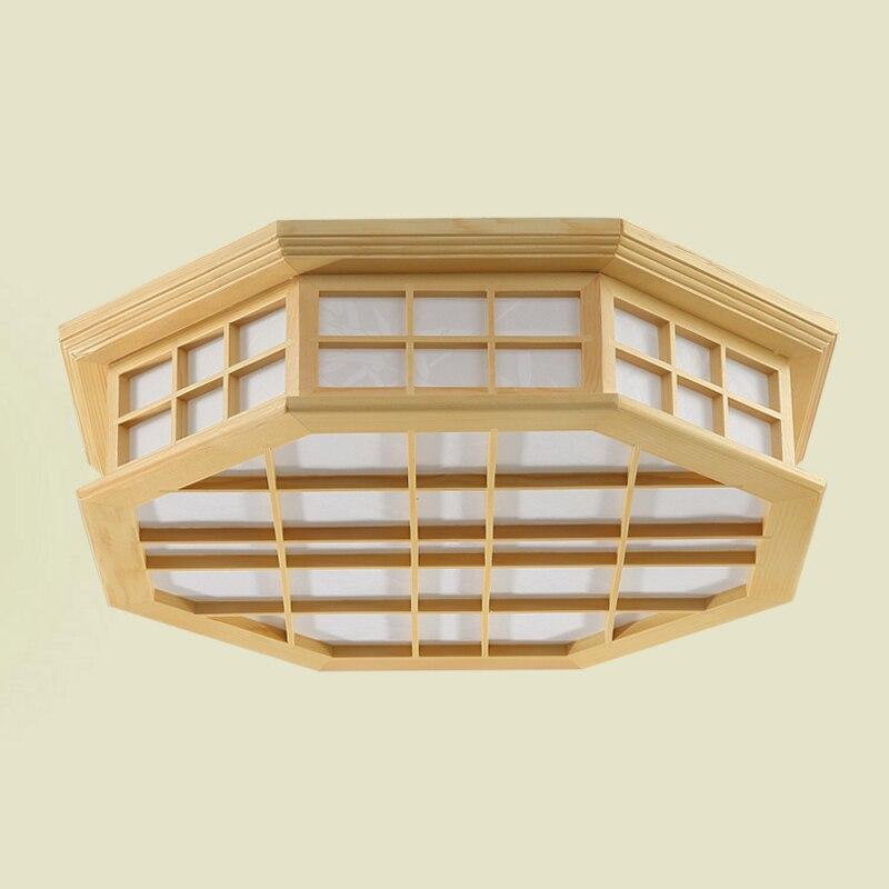 Japanischen Stil Innenbeleuchtung Deckenleuchten Washitsu Tatami Decor Shoji Lampe Holz Und Papier Restaurant Wohnzimmer Flur