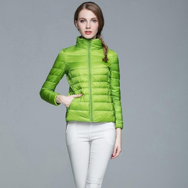 90% White Duck Down Parka For Women 2018 Brand New Designer Women Ultralight Down Jacket Winter Outwear Zipper Thin Coat