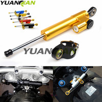 Motorcycle moto Damper Steering Stabilizer Linear Reversed Safety Control For kawasaki z800 z1000 yamaha r1 r3 r6 r15 r25 mt 07