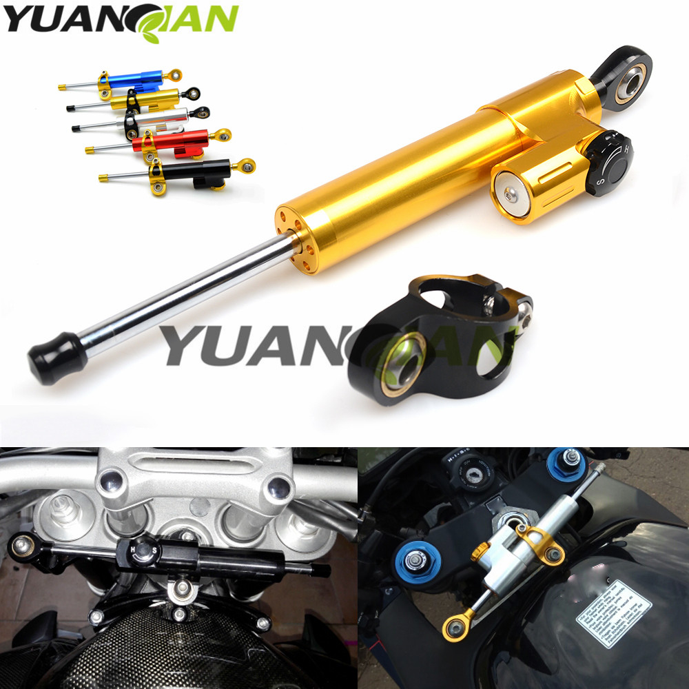 Motorcycle moto Damper Steering Stabilizer Linear Reversed Safety Control For kawasaki z800 z1000 yamaha r1 r3 r6 r15 r25 mt-07 for kawasaki z750 z800 z 750 z 800 universal motorcycle accessories stabilizer damper steering mounting all year