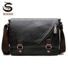 New Arrival Fashion Business Leather Men Messenger Bags Prom