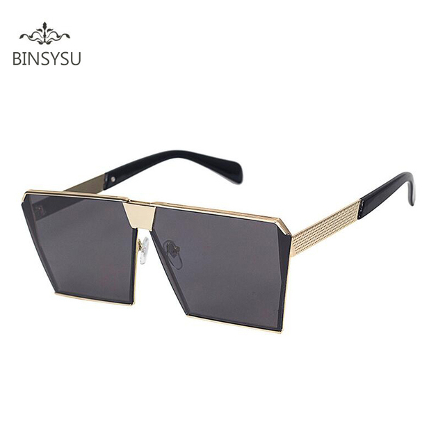 f06eef1f536 New Square Fashion Sunglasses Women Brand Designer Sun Glasses Men Big Frame  Flat Reflective Mirror Shades Oculos UV400