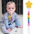 Estrela Rodada Beads Pulseira Sensorial Do Bebê Mordedor de Silicone Anéis de Dentição Para O Bebê Brinquedos de Látex Silicone de Grau Alimentar Mordedores P0.15