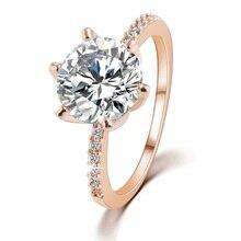 2017 nova presente de natal de alta qualidade de prata de ouro anel de cristal anéis de casamento jóias finas para mulheres acessório presente anillo