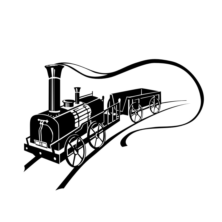 Vintage Power Train Wall Sticker Smoke Road 3d Wall Stickers Hollow Out Wallpaper Wall Art Decals Home Decor Living Room