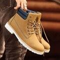 Hombres Botas de Otoño 2016 nuevas de LA PU hombres botas de Cuero Caliente de la Venta inglaterra botines Zapatos de los hombres los hombres Calientes del Invierno zapatos para caminar al aire libre zapato