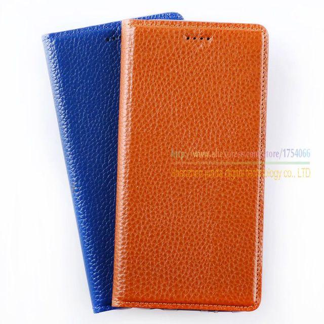 Lichee padrão couro genuíno natural ímã flip tampa do suporte para xiaomi redmi note note2 3 4 casos de telefone celular de luxo