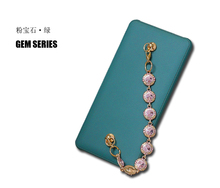 8000mAh Pink Diamond Chain Power bank for Girl,Leopard Chain Quick Charger Portable Thin Battery for iPhone 8/Samsung S8/Xiaomi