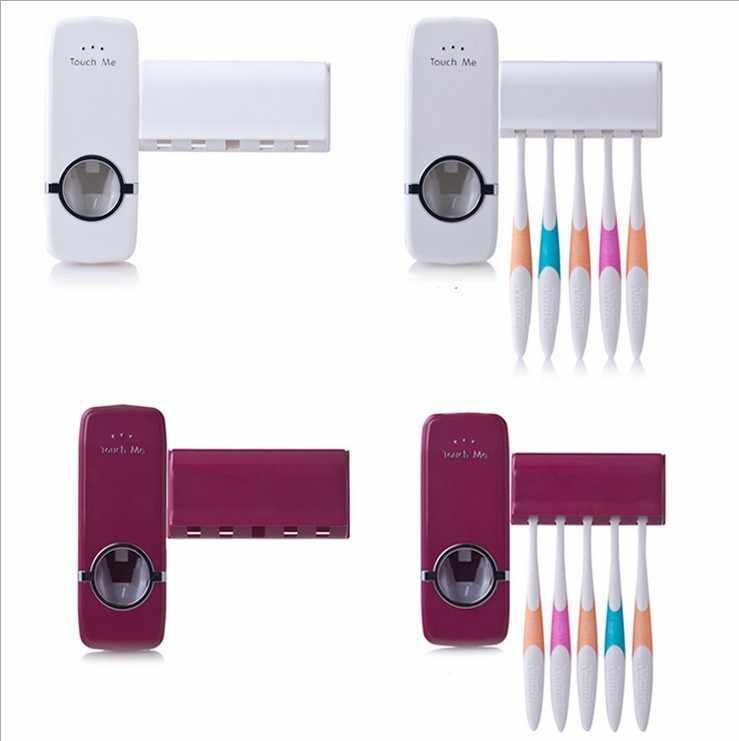 Creme Dental automático Dispensador de escova de Dentes da família Titular banho artigos para o lar