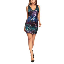 European and American Fashionable Sexy Derss Explosive Suspender Wrapped Hip Dress Sexy Sequined Dress Short Dress purple S-2XL