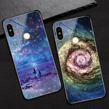 купить Starry sky Phone Case Coque for Xiaomi Redmi Note 5 Tempered Glass Cover para for Xiaomi Redmi Note 5 Pro Coque Redmi Note 5 Pro дешево