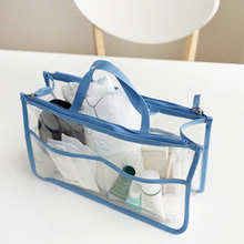 EVA Waterproof Clear Cosmetic Bag Travel Make up bag Women Toiletry Organizer wash Storage Pouch Beauty Kit 30